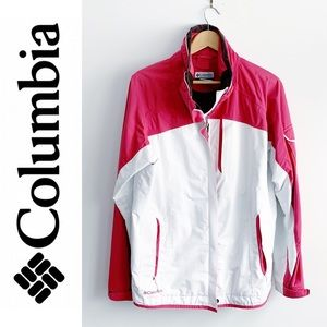 Columbia Women's Pink & White Outer Jacket Shell L